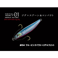 Little Jack lures Little Jack metal adict type-01 18g #04 Blue pink vertical eagle + real print, 18g