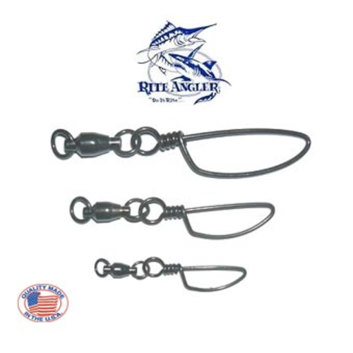 Rite Angler Sail ball bearing 135lb D.W.E snap swivel 2pk