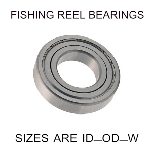 6x15x5mm precision shielded SS fishing reel bearings