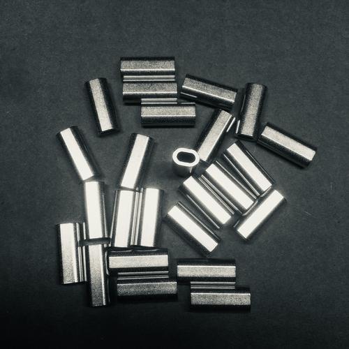 1.5 alloy oval crimp  100pk
