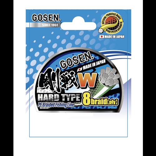 Gosen fishing line GOSEN W light green HardType 8 braid 150m  2 PE:0.242 15.9kg