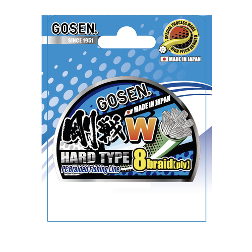 Gosen fishing line GOSEN W light green HardType 8 braid 150m  0.6  PE:0.132 6.4kg
