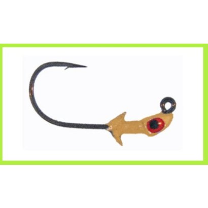 Bass Assassin PEJ14001 Pro Elite Jighead 1/4oz 3Ct Lead/red Eye