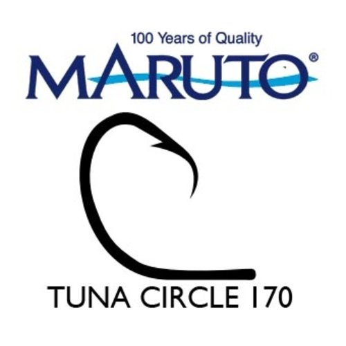 Maruto Hooks Maruto Tuna circle hook 12/0 Hi-carbon steel 10pk
