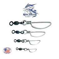 Rite Angler Dolphin 75lb barrel snap swivel 4pk