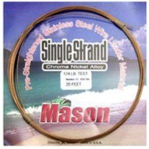 Mason lines Mason 86lb single strand stainless steel wire