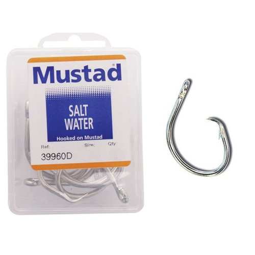 Mustad hooks Mustad 39960D circle hook 16/0 BULK 100 pk