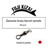 Fuji Kizai Brass barrel swivel black size 4 50pk