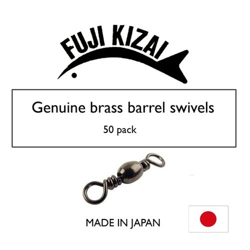 Fuji Kizai Brass barrel swivel black size 4 100pk
