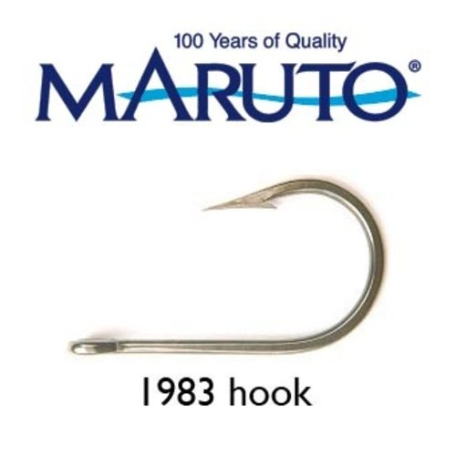Maruto Hooks Maruto 6/0 stainless steel light gauge game hook, wide gape