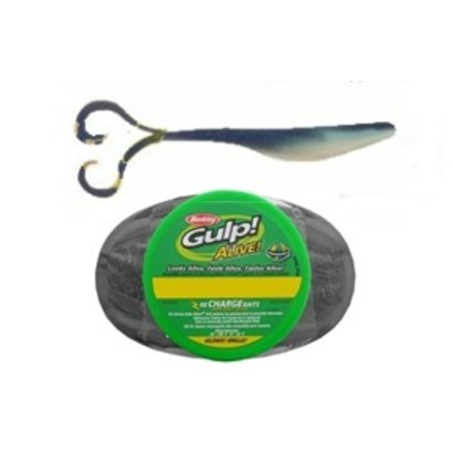 Berkley fishing Berkley gulp alive softbait Crazy legs 5 inch Sapphire Shine