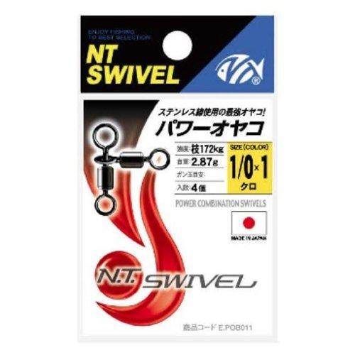 NT Swivel Ten Mouth NT Power swivel 3 way combination 444B 193kg 2/0x1/0