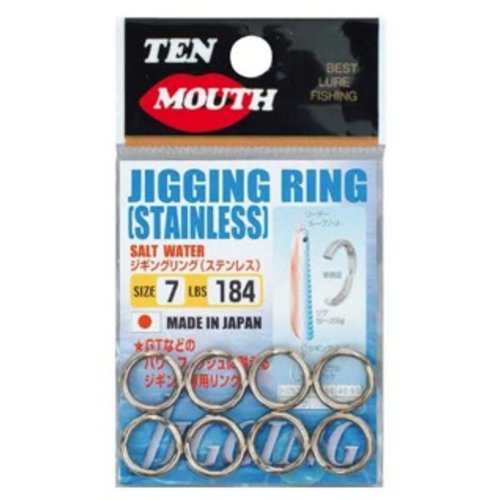NT Swivel Ten Mouth Ten Mouth jigging split rings TM8 255lb size 8