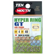 NT Swivel Ten Mouth Ten Mouth Hyper GT split rings TM6 49lb size 4