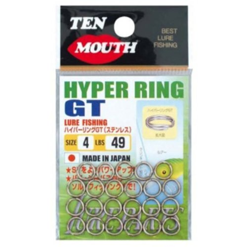 NT Swivel Ten Mouth Ten Mouth Hyper GT split rings TM6 49lb size 4