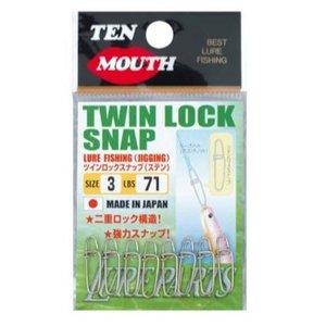 NT Swivel Ten Mouth Ten Mouth Twin lock snap TM18 51lb size 1