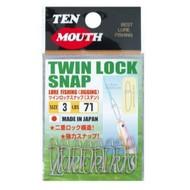 NT Swivel Ten Mouth Ten Mouth Twin lock snap TM18 71lb size 3