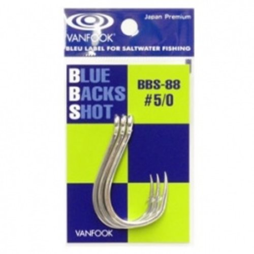 Vanfook Hooks Vanfook  BBS-88S Blue back shot hook #2/0