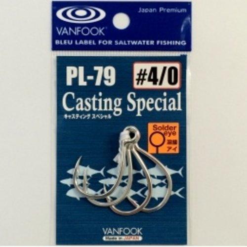 Vanfook Hooks Vanfook  PL-79 Casting In-line hook welded 4/0