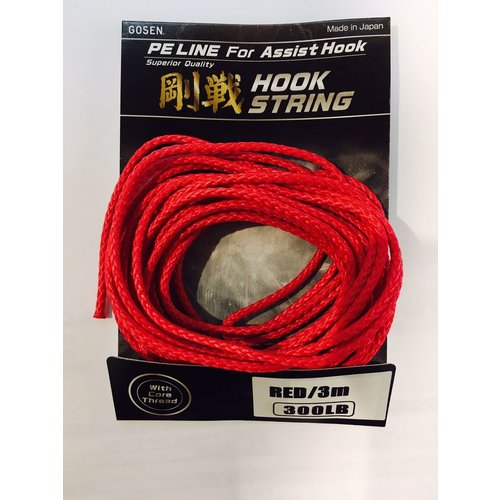 Gosen fishing line Gosen PE jigging assist cord 3m 300lb
