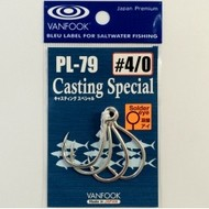Vanfook Hooks Vanfook  PL-79 Casting In-line hook welded 1/0
