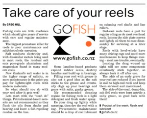 Take care of your reels.