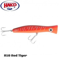 Halco lures Halco Haymaker Roosta Popper 195 R18 Red tiger
