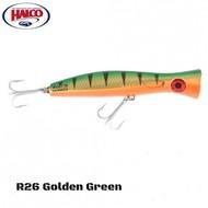Halco lures Halco Haymaker Roosta Popper 195 R26 G/O mack