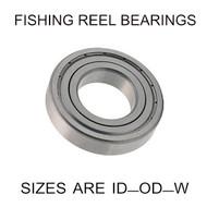 8x19x6mm precision shielded SS fishing reel bearings