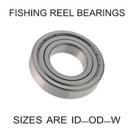 6x17x6mm precision shielded SS fishing reel bearings
