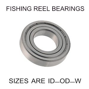 3x8x4mm precision shielded SS fishing reel bearings