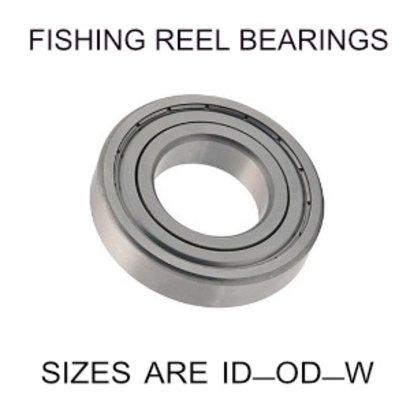 3x8x4mm precision shielded SS fishing reel bearings