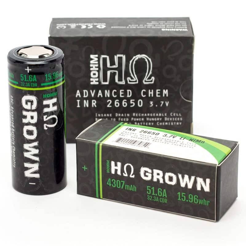 HohmTech Grown 26650 Battery