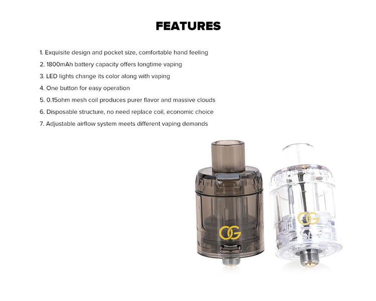OG Disposable Tanks 3 Pack