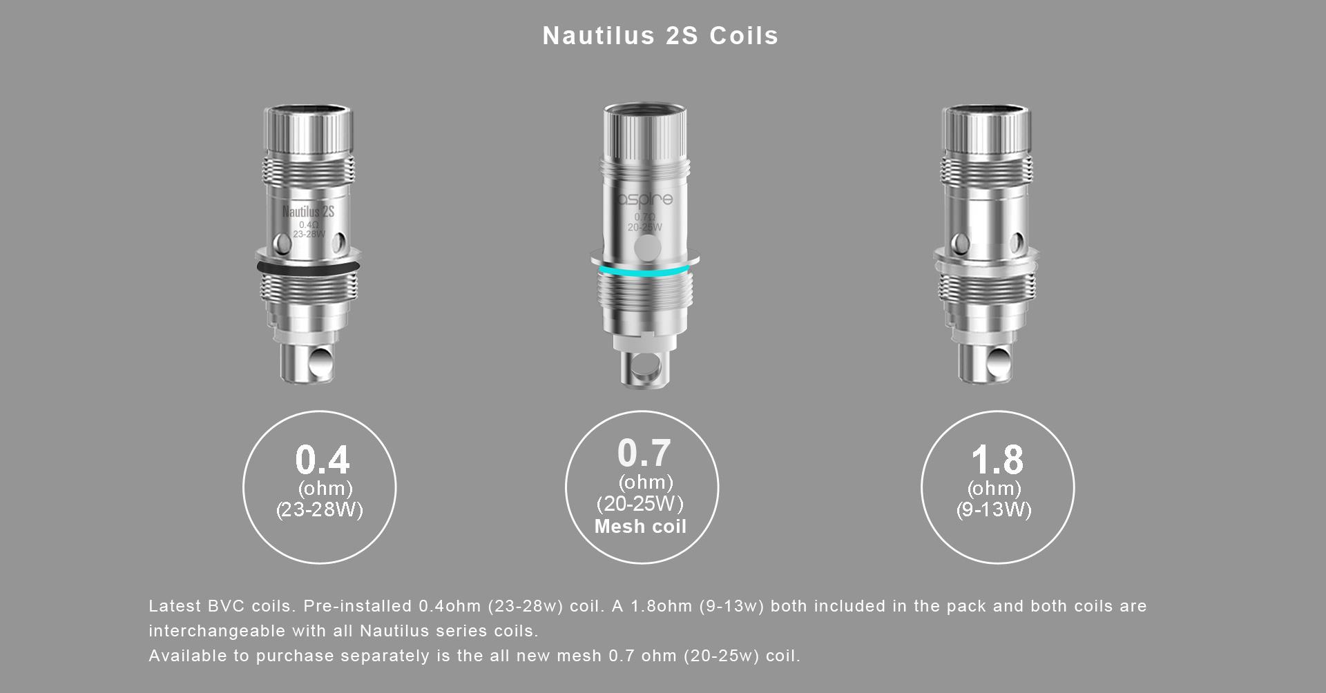Aspire Nautilus Mesh Coils 5 Pack