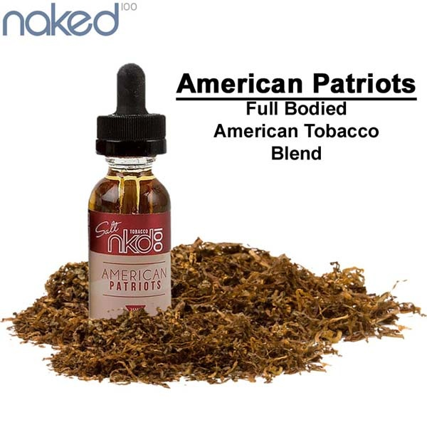 Naked 100 American Patriots Salts 30ML