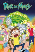 "Rick & Morty Group Portal Poster 26""x36"""