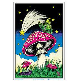 """Mushroom Butterflies Blacklight Poster 23""""x35"""""""