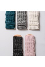 Leto Accessories Ribbed Arm Warmers