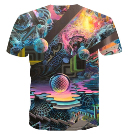 3D Psychedelic Moons T-Shirt