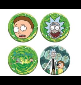 Metal Rick & Morty Button Hat Pins