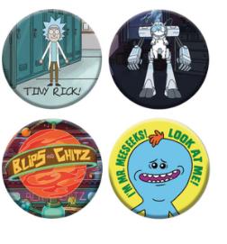 Metal Rick & Morty Hat Pins