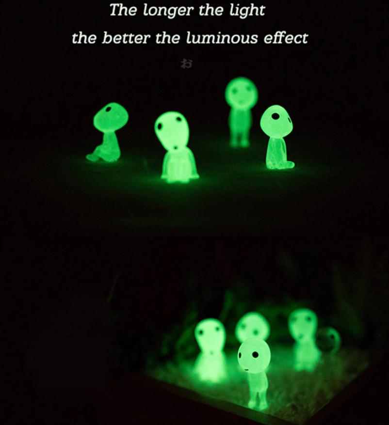 Princess Monooke Mini Luminous Tree Elves (Alien Friends) 5 Pack