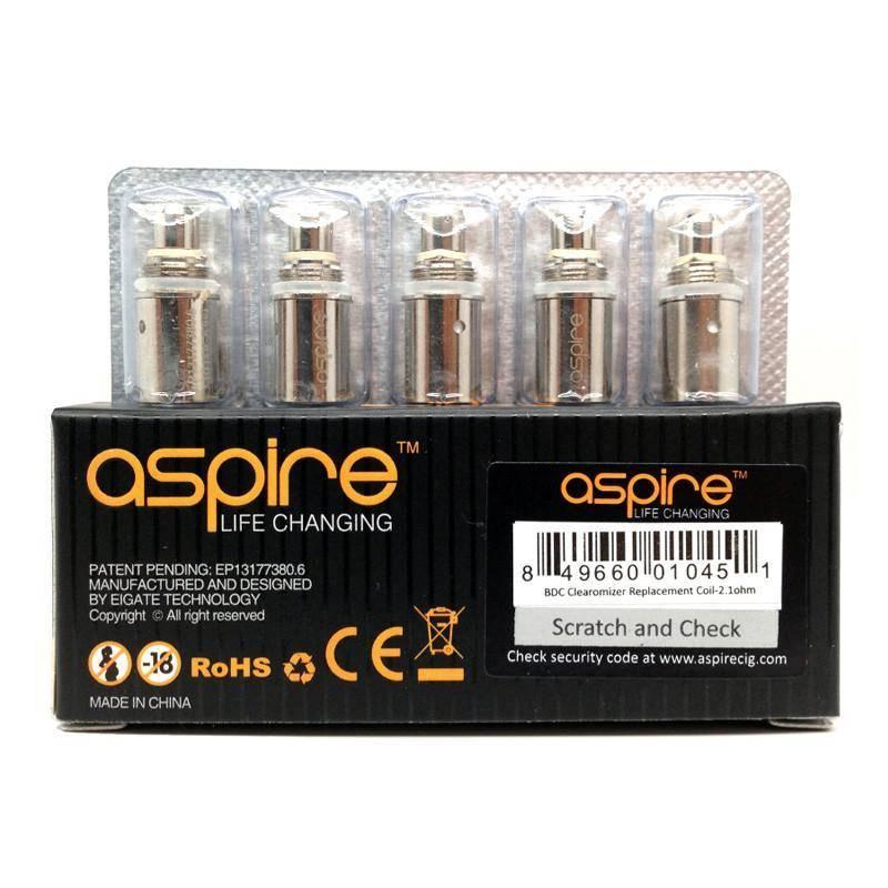 Aspire Spryte BVC Coils 5 Pack 1.8 Ohm