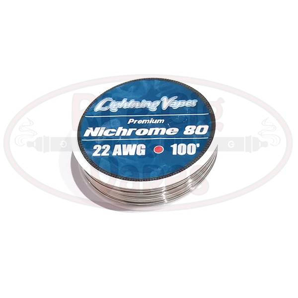 Lightning Vapes Ni 80 22G Wire 100 Ft