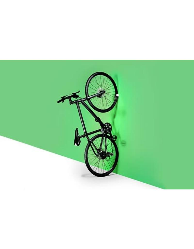 "Clug Clug Hybrid Wall Mount Bicycle Rack, Outside White/ Inside Black, Fits tires 32mm-42mm (1.3-1.75"")"