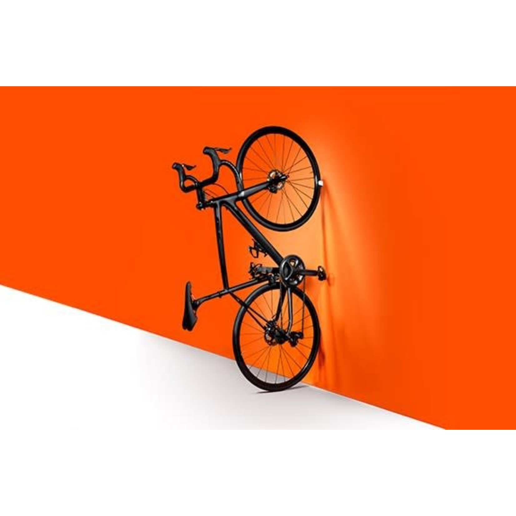 Clug Roadie Wall Mount Bicycle Rack Outside White/ Inside Orange, Fits tires 23mm-32mm