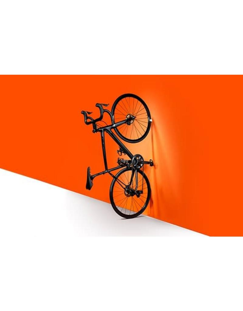 Clug Roadie Wall Mount Bicycle Rack Outside White/ Inside Orange, Fits tires 23mm-32mm