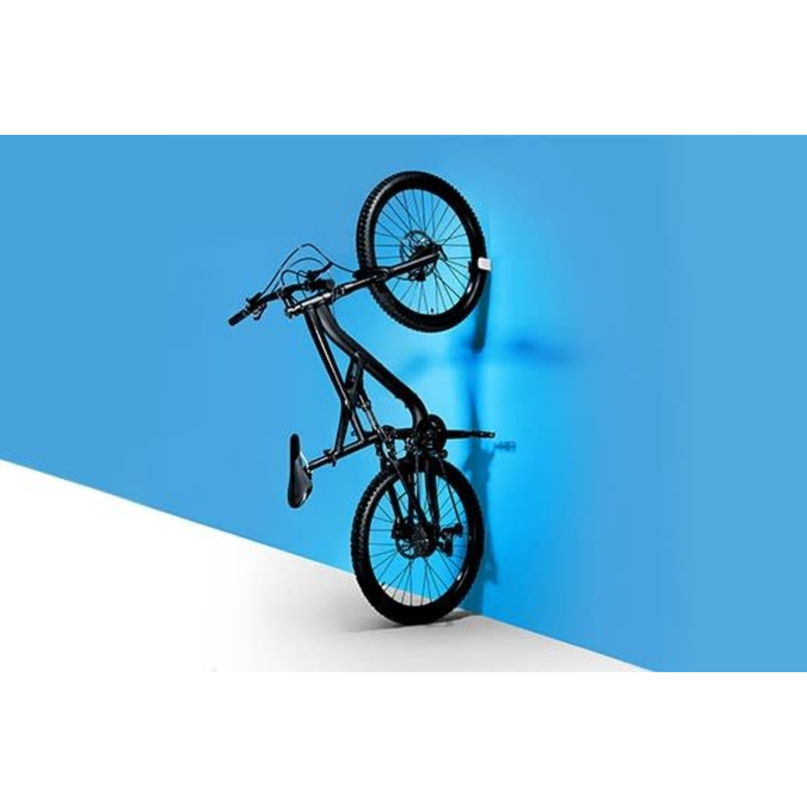 """Clug Mountain Wall Mount Bicycle Rack, Outside White/ Inside Black, Fits tires 1.75-2.50"""""""