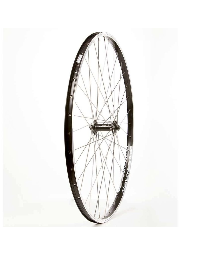 The Wheel Shop Alex DM18 Noir/ Shimano Deore HB-T610, Roue, Avant, 700C